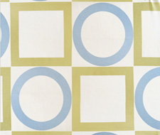 4007-02 Summer Square Sky/Citrus – Victoria Hagan Fabric